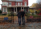 Alexandra and Bill Ostrander (Buddy) outside Stephen King's house, October 2016
