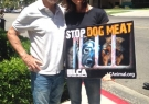 Alexandra with Last Chance for Animals founder Chris DeRose at protest against Yulin Dog Meat Festival Sept 2017