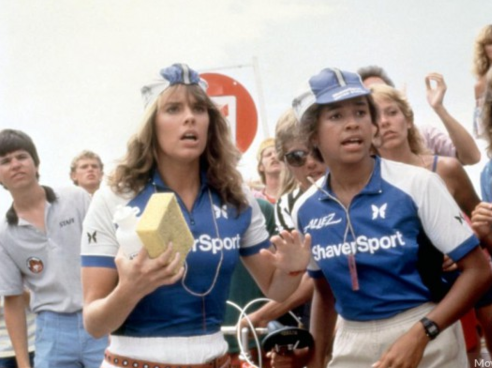 Rae Dawn Chong, Alexandra Paul in American Flyers 1984